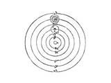 Galileo's Diagram of the Copernican System of the Universe Wydruk giclee autor Galileo Galilei