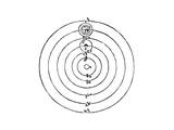 Galileo Galilei - Galileo's Diagram of the Copernican System of the Universe - Giclee Baskı