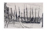 Boats Alongside Billingsgate, London, 1859 Giclee Print by James Abbott McNeill Whistler