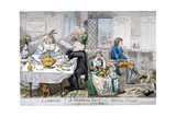 A General Fast in Consequence of the War!!, 1794 Giclee Print by Isaac Cruikshank