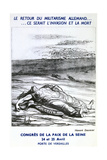 Postcard Advertising the Congress of Peace of the Seine, Paris Giclee Print by Honoré Daumier