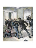 Attack in the Office of the Prefecture of the Seine, Paris, 1892 Giclee Print by Henri Meyer