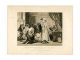 Lady Jane Grey's Reluctance to Accept the Crown Giclee Print by Herbert Bourne