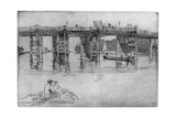 Old Putney Bridge, 1879 Giclee Print by James Abbott McNeill Whistler