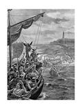 An Attack of the Danes on Ireland, 9th Century Ad Giclee Print by Henry Payne