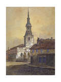 St Leonard's Church, Shoreditch, London, C1815 Giclee Print by George Dance