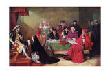 The Trial of Queen Catherine, 19th Century Giclee Print by Henry Nelson O'Neil