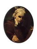 Self-Portrait, C1700 Giclée-tryk af Giuseppe Maria Crespi