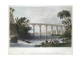 Viaduct on the Baltimore and Washington Railroad, C1838 Giclee Print by Henry Adlard