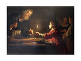 Childhood of Christ, C1620 Wydruk giclee autor Gerrit van Honthorst