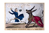 The Great General Frightened by Don-Key, 1830 Giclee Print by Henry Heath