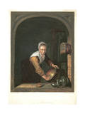 La Menagere, C1630-1670 Giclee Print by Gerrit Dou