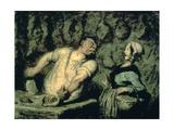 The Butcher, Montmartre Market, 1857-1858 Giclee Print by Honoré Daumier