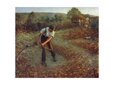 Mowing Bracken, C1903 Giclee Print by Henry Herbert La Thangue