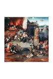Triptych of the Temptation of St Anthony, C1480-1516 Giclée-tryk af Hieronymus Bosch