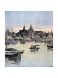 View of Bangkok, 1893 Giclee Print by Henri Meyer