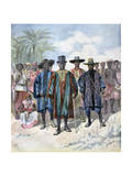 Dahomeans, 1893 Giclee Print by Henri Meyer