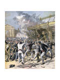 The Riot in Bordeaux, Aquitaine, 1891 Giclee Print by Henri Meyer