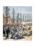 Rioting in Mons, Belgium, 1893 Giclee Print by Henri Meyer