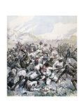Destruction of a German Expedition in Africa, 1891 Giclee Print by Henri Meyer