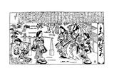 Matsukaze and Murasame, 1684-1688 Giclee Print by Hishikawa Moronobu