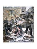 The Fish Market, Paris, 1893 Giclee Print by Henri Meyer