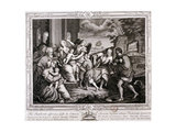 The Shepherds Offering Gifts to Christ, 1733 Giclee Print by Jacopo Palma