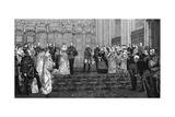 The Marriage of the Duke and Duchess of Albany, 27 April 1882 Giclee Print by James Dromgole Linton