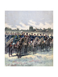Military Review with General Saussier and Foreign Military Attaches, 14th July 1891 Giclee Print by Henri Meyer