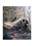 Explosion at the Police Station on the Rue Des Bons-Enfants, Paris, 1892 Giclee Print by Henri Meyer