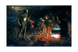 Macbeth and the Witches, Late 19th Century Giclee Print by Henry Daniel Chadwick