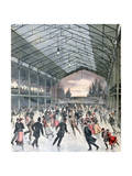 Ice Skating in Paris, 1892 Giclee Print by Henri Meyer