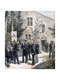 The Grand Duke Constantine of Russia Visiting the House of Joan of Arc, Domremy, 1892 Giclee Print by Henri Meyer
