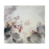 Heavenly Scene, 18th Century Giclee Print by Jacob De Wit
