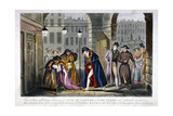 Scene in Covent Garden, Westminster, London, 1830 Giclee Print by Isaac Robert Cruikshank