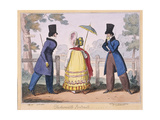 Fashionable Portraits, a Scene in Hyde Park, 1819 Giclee Print by Isaac Cruikshank