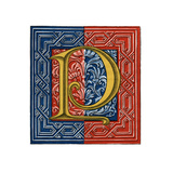 Initial Letter P Giclee Print by Henry Shaw