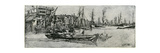 Thames Warehouse, 19th Century Giclee Print by James Abbott McNeill Whistler