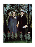 The Poet and His Muse. Portrait of Guillaume Apollinaire and Marie Laurencin, 1909 Giclee Print by Henri Rousseau