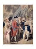 George III Presenting a Sword to Admiral Earl Howe, C1794 Giclee Print by Isaac Cruikshank