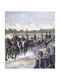 Arrival of the President of the Republic, Military Review, 14th July 1891 Giclee Print by Henri Meyer