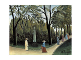 The Luxembourg Gardens, Monument to Chopin, 1909 Giclee Print by Henri Rousseau