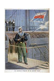 The New Flag of the Russian Navy, 1898 Giclee Print by Henri Meyer