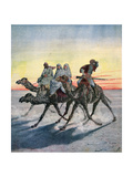 Escape of the Prisoners of the Mahdi, Khartoum, Sudan, 1892 Giclee Print by Henri Meyer