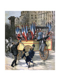 The Conscripts of 1892 Giclee Print by Henri Meyer