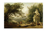 Terrace Ruin in a Park, C1780 Giclee Print by Hubert Robert