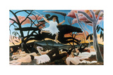 War, or the Ride of Discord, 1894 Giclee Print by Henri Rousseau