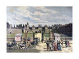 Arrival of the President of the Republique, Château De Fontainebleau, 1892 Giclee Print by Henri Meyer
