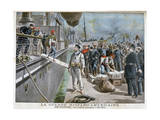 Spanish Prisoners Arriving at Key-West, Spanish-American War, 1898 Giclee Print by Henri Meyer