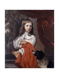 Portrait of a Young Boy with a Dog, 1658 Giclee Print by Jacob van Loo